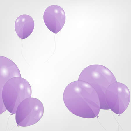 set of colored balloons,  illustration  Stock Illustration - 18228265