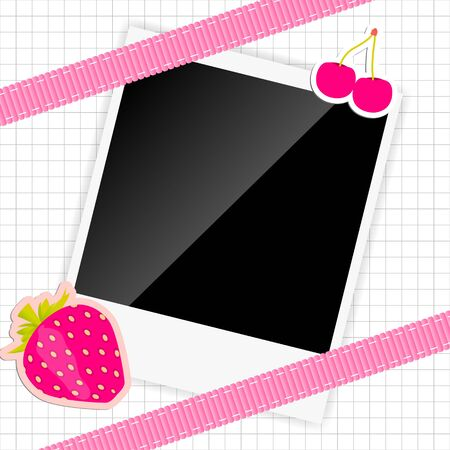 scrapbook elements with photos frame illustration Stock Illustration - 18228289