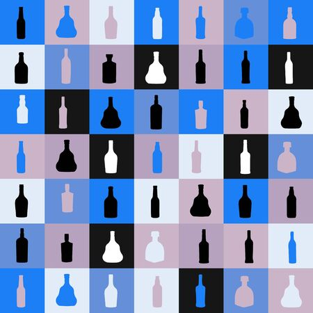 vector illustrationseamless pattern silhouette alcohol bottle Stock Vector - 18301928