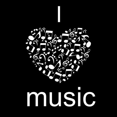 музыка: Абстрактные музыкальное векторные иллюстрации для вашего дизайна Иллюстрация