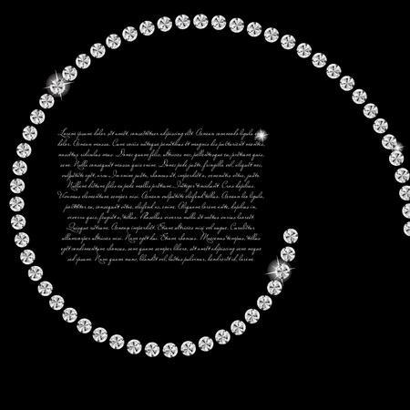 Abstract beautiful black diamond background vector illustration Vector