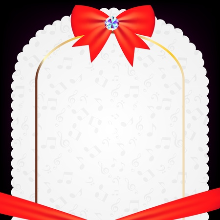 vintage frame with bow vector illustration Vector
