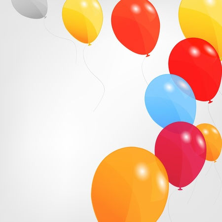 pink balloons: set of colored balloons, vector illustration   Illustration