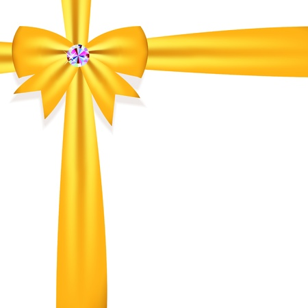 Gift bow with ribbon Vector illustration Illustration