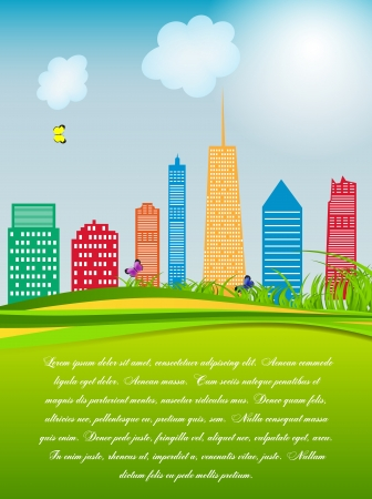 vector illustration of cities silhouette Stock Vector - 18421747