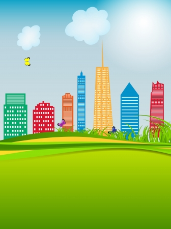vector illustration of cities silhouette Stock Vector - 18422197
