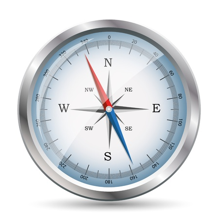 Glossy Compass  Illustration Stock Vector - 18517023