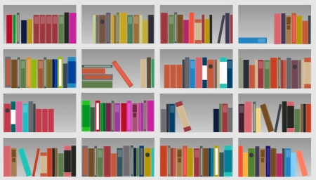 bookcase illustration Illustration