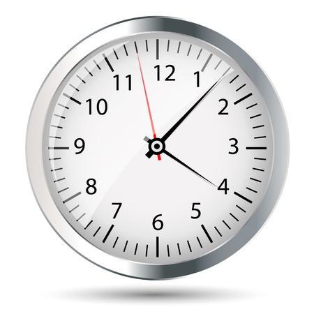 clock face: Silver watch illustration