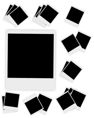 Blank  Instant photos vector  illustration Stock Vector - 19027648