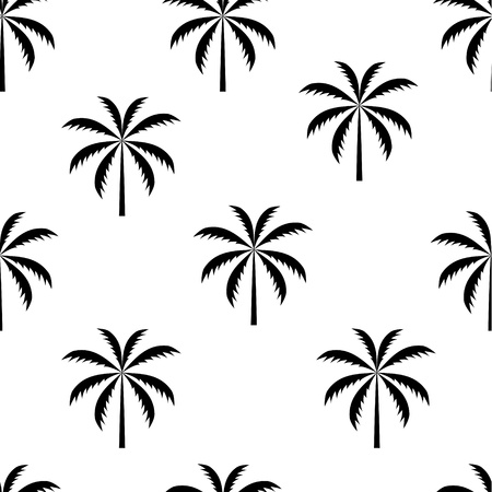 on palm tree: Palm tree seamless pattern vector illustration Illustration
