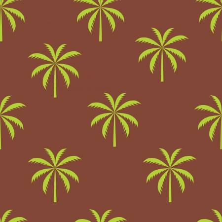 Palm tree seamless pattern vector illustration Vector