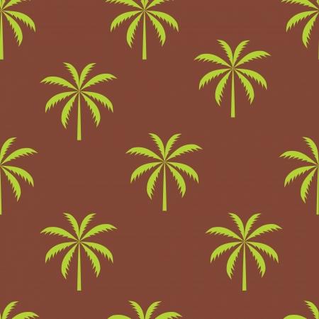 palm tree vector: Palm tree seamless pattern vector illustration Illustration