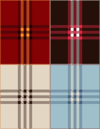 Plaid texture background vector illustration Vector
