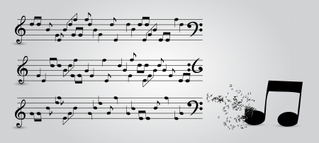 musical notes abstract background  Vector Illustration Vector