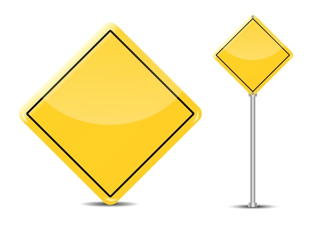 Vector Blank Traffic Sign isolated on white background Illustration