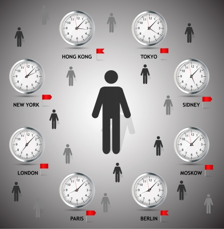 time zone: Time Zone World vector illustration Illustration