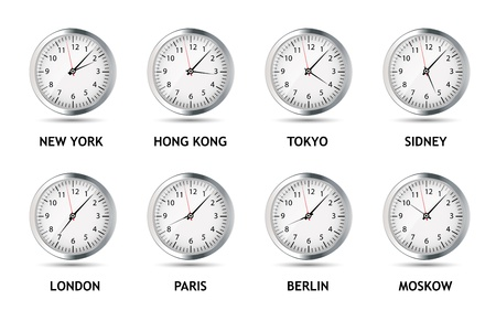 Time Zone World vector illustration Vector