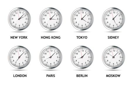 time frame: Time Zone World vector illustration Illustration