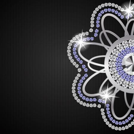 bijoux diamant: R�sum� beau diamant illustration vectorielle de fond noir Illustration