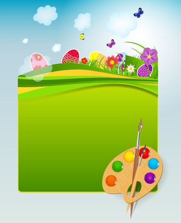 Vector illustration background with easter eggs Stock Vector - 19369757