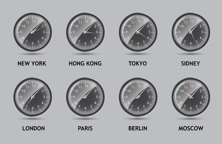 time zone: Time Zone World illustration