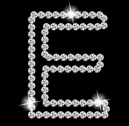 brightly colored: Diamond Alphabet illustration