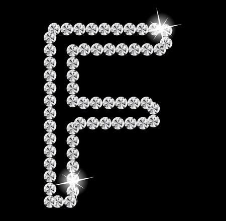Diamond Alphabet illustration Stock Vector - 19929379