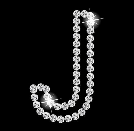 Diamond Alphabet illustration Stock Vector - 19929377