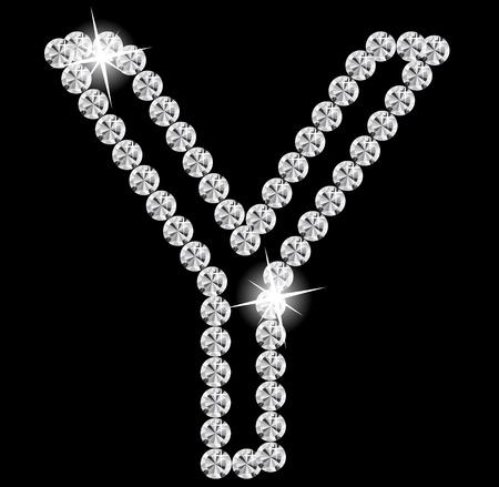 close out: Diamond Alphabet illustration