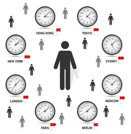 Time Zone World illustration Vector