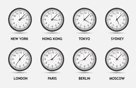 oclock: Time Zone World illustration