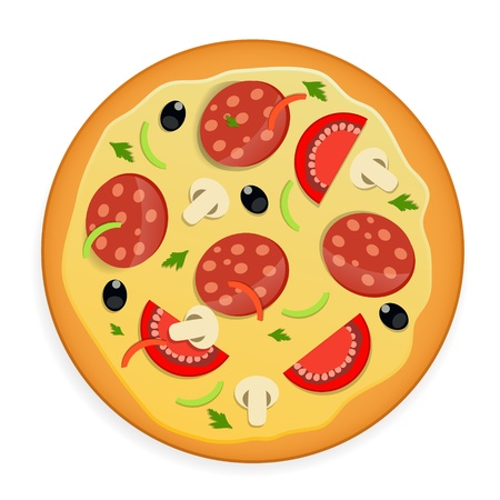 Pizza icon illustration