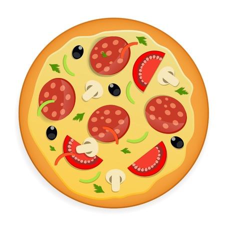 Pizza icon illustration