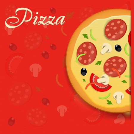 Pizza menu template illustration Vector