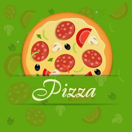 Pizza menu template illustration Illustration
