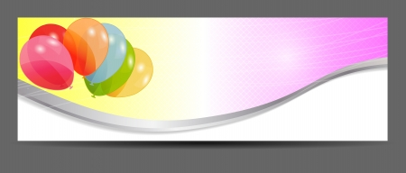 colored balloons banner, vector illustration Vector