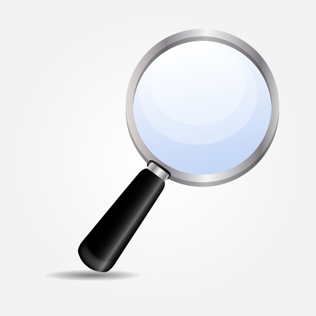 looking glass: magnifying glass icon illustration
