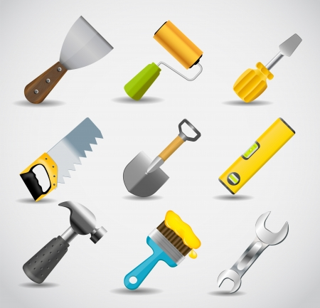 Different tools icon illustration set Stock Vector - 20596515
