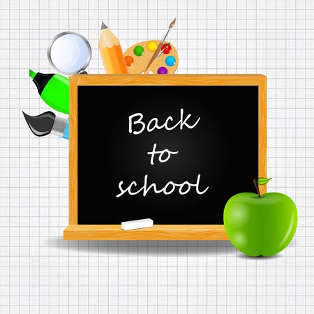 large group of object: Back to School Background