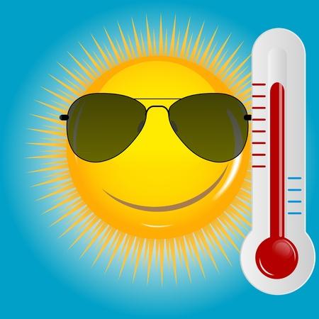 Happy Sun  background illustration Vector