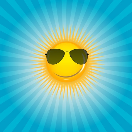 predict: Happy Sun  background illustration Illustration