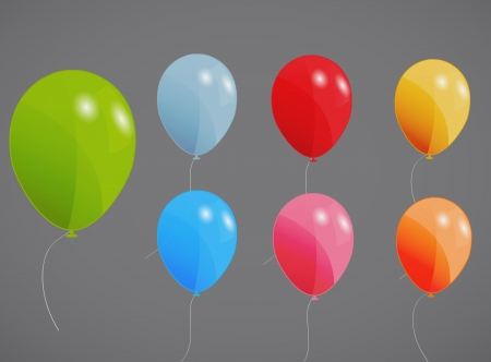 colored balloons illustration Vector