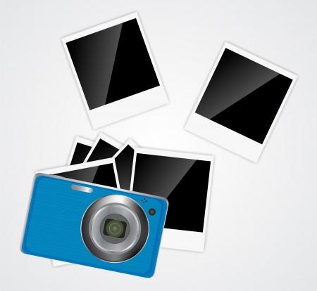 Camera, photos frame illustration Stock Vector - 20596523