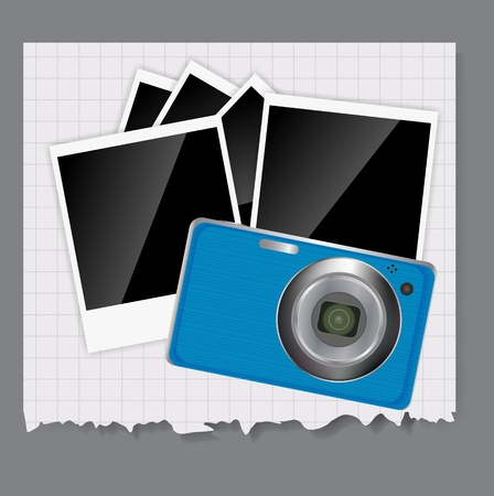 Camera, photos frame illustration Stock Vector - 20596524