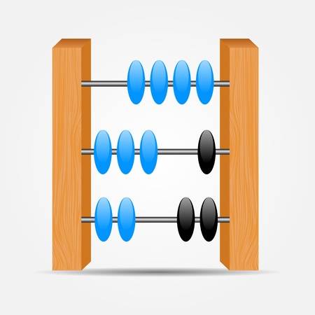 abacus icon illustration Illustration