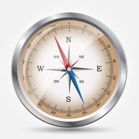 Glossy Compass Illustration. Stock Vector - 20831293