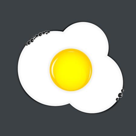 Fried eggs illustration Vector