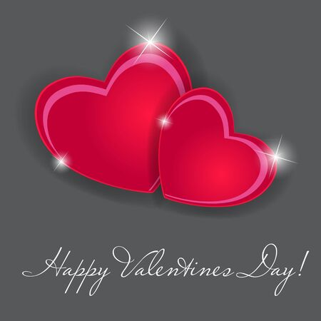 Happy Valentines Day card with heart Foto de archivo - 20831313