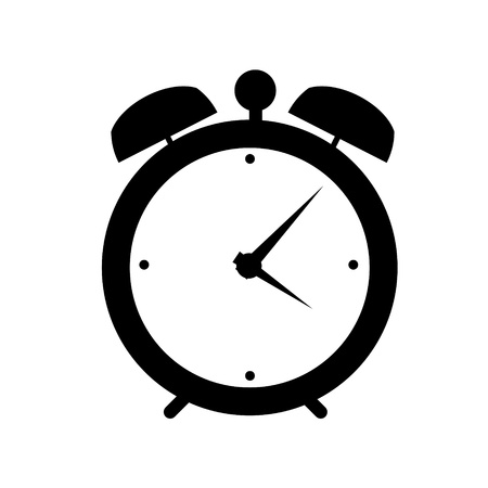 alarm clock: clock alarm icon illustration Stock Photo